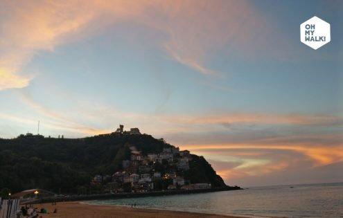 Playa Ondarreta y Monte Igueldo- San Sebastian